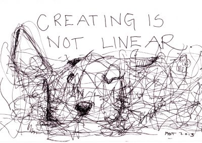 Creating is not linear.